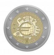 Commémorative 10 ans de la circulation des pièces et des billets d'euro 2012